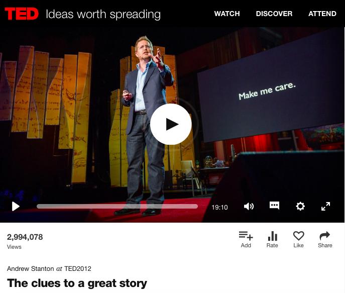 Screenshot TED Andrew Stanton